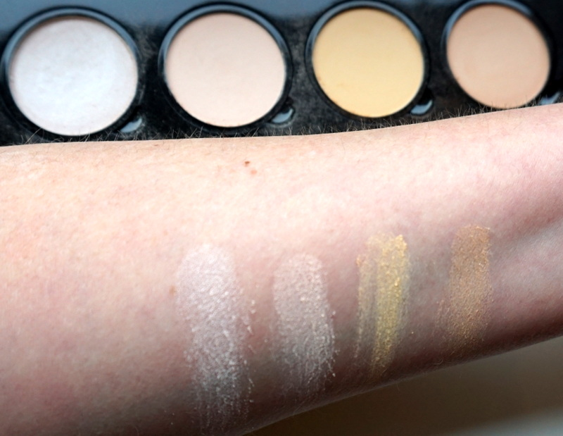 NYX Highlight & Contour Pro Palette Swatches obere Reihe / helle Farben - Highendlove