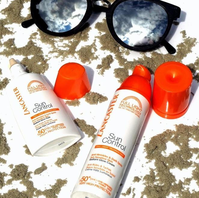 LANCASTER Sun Control SPF 50 Radiant Glow Fluid & Face Cream - Highendlove