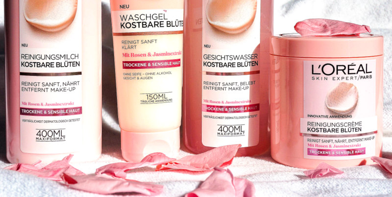 L´OREAL Kostbare Blüten Reinigungserie für trockene & sensible Haut - Highendlove