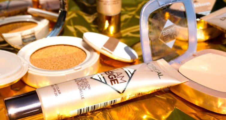L´OREAL Glam Beige Cushion & Healty Glow Foundation & Powder - Highendlove