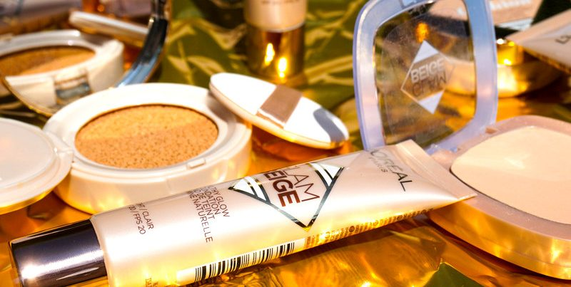 L´OREAL Glam Beige Cushion & Healty Glow Foundation & Powder - Highendlove