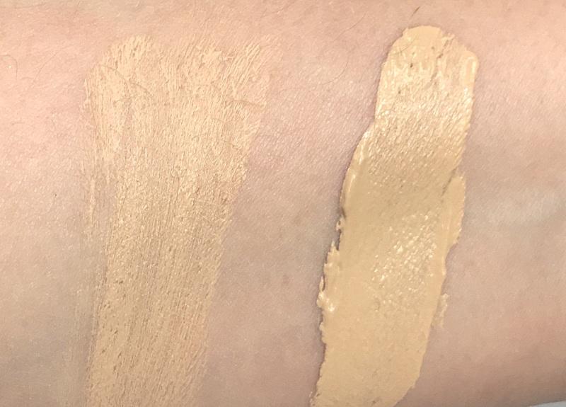 CLARINS Teint Pores & Matité Foundation Swatch hellste Farbe 01 Nude Ivory - Highendlove