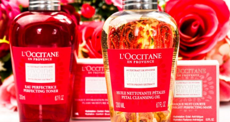 L´OCCITANE Pivoine Sublime Cleansing Oil & Toner & Mask - Highendlove