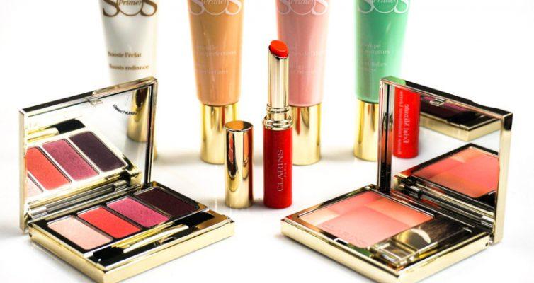 CLARINS Sping Makeup Collection Primer & Palette 4 Couleurs & Eclat Minute Baume Embellisseur Lèvres - Highendlove