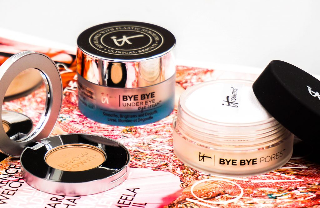 IT Cosmetics Bye Bye Pores Powder & Under Eye Cream & Brow Power Augenbrauenpuder
