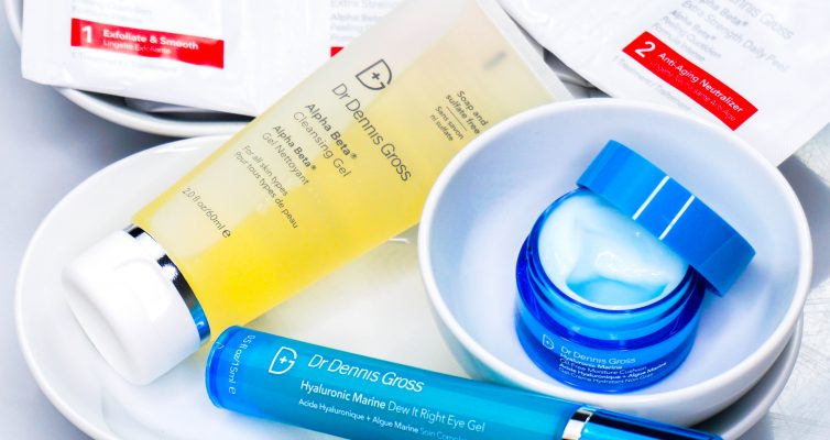 DR. DENNIS GROSS Alpha Beta Cleansing Gel & Daily Peel & Hyaluronic Marine Eye Gel & Moisture Cushion