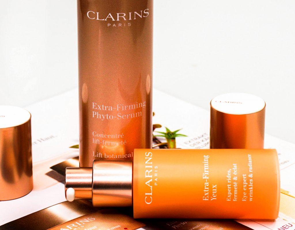 CLARINS Extra-Firming Phyto-Serum & Extra-Firming Yeux Augenpflege - Highendlove